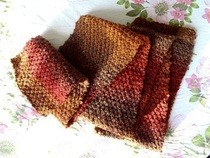 Seed Stitch Scarf