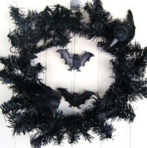 Black Halloween Wreath