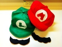 Mario & Luigi Hats And Mustaches