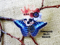Skull Brooch   Steampunk Prince