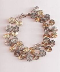 Mixed Metal Egyptian Link Bracelet