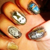 Really Messy Bioshock Nails