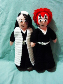 Bleach Byakuya And Renji Dolls