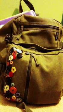Emma's Buttons   Button Backpack