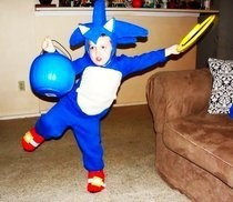 Sonic The Hedgehog An Knucles Kids Halloween Costume
