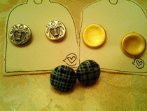 Button Earings