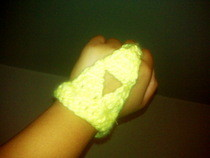 Crotchet Triforce Bracelet