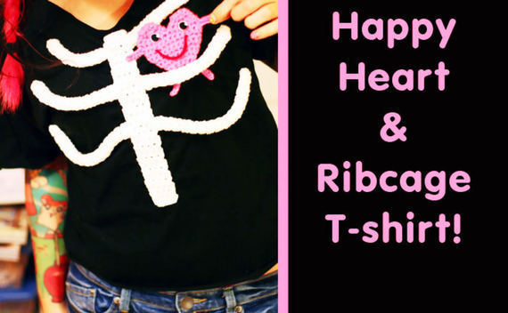 Happy Heart & Ribcage T Shirt