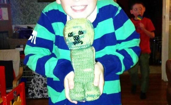 Minecraft Creeper Crochet Toy