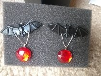 Simple Gothic Bat Earrings