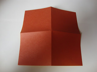 How to fold an origami shape. Origami Bows - Step 1