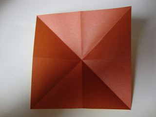 How to fold an origami shape. Origami Bows - Step 3