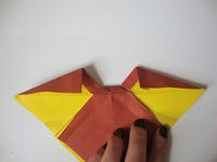 How to fold an origami shape. Origami Bows - Step 22