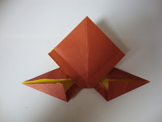 How to fold an origami shape. Origami Bows - Step 24