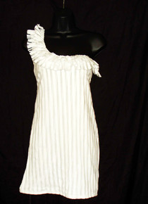 A Pretty White Dress With Frill