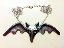 Lily Munster's Bat Necklace