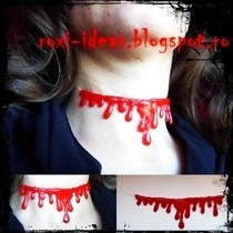 Hot Glue Blood Dripping Necklace