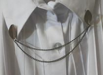 Collar Chain Using Brooch Back