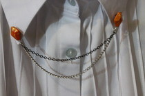 Collar Chain Using Beads & Earring Backs