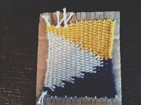 How to make a coaster. Diy Woven Coasters - Step 9