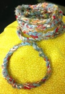 Crochet Fabric Bangles