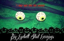 Halloween Eyeball Earring Studs