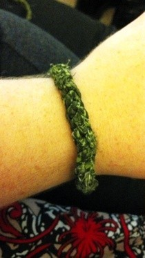 Crochet Fabric Bangle