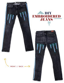 Free People Inspired: Diy Embroidered Jeans