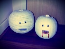 Spooky Pumpkins   Vampire &amp; Mummy