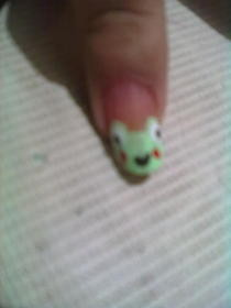 Keroppi Nail Art