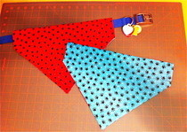 Reversible Over The Collar Dog Bandana