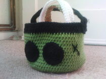 Halloween Crochet Stacking Baskets