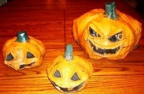 Paper Mache Jack O Lanterns