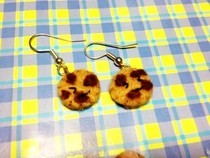Felt Cookie Earring