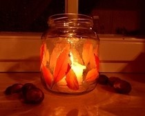 Autumnal Leaves Candle Holder