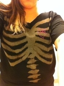 Bleach Print Skeleton Shirt