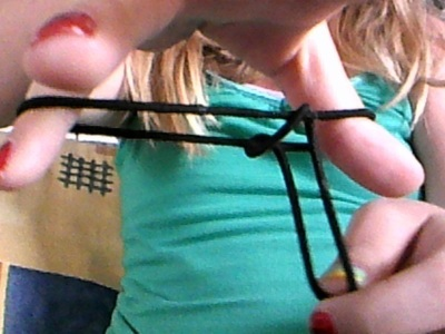 How to make an elastic band bracelet. Quick Hair Tie Bracelet - Step 2