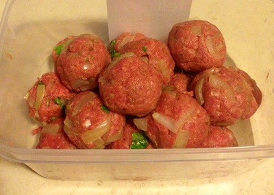 How to cook a meat cake. Chinese Meat Balls With Plum Sauce - Step 2
