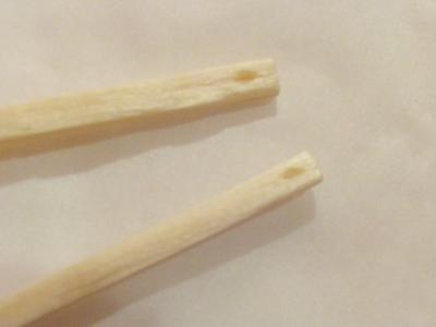How to make a dangle earring. Matchstick Earrings - Step 1