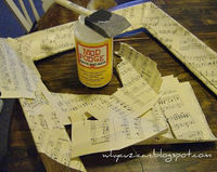 How to decopage a decoupage photo frame. Vintage Sheet Music Wooden Frame - Step 5