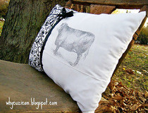 Beautiful Bovine Pillow Using Citra Solv