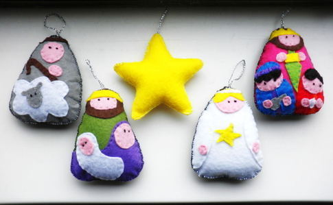 Felt Nativity Set For Christmas