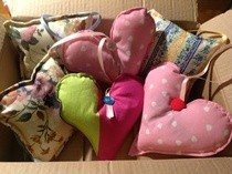 Lavender Hearts And Cushions