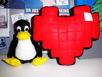 My 8 Bit Heart Cushion