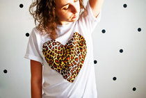 Leopard Heart T Shirt