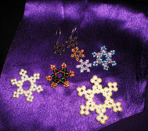 Beaded Snowflakes