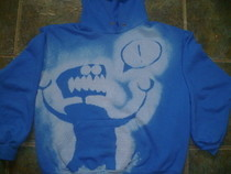 Bleached Stencil Hoodie!