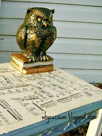 Sheet Music Table Top (Trash To Treasure)