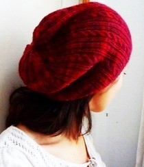 Cranberry Delight Slouch/Tam