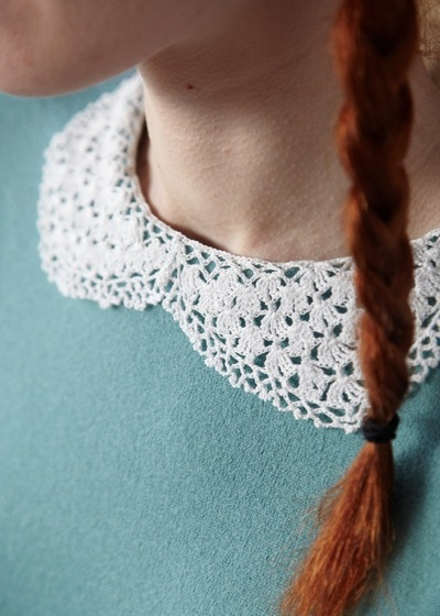 How to make a Peter Pan collar. Lacy Collar - Step 4